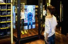 Projector Mirrors - Diesel's 360° Magic Mirror Helps You Buy That Perfect Pair of Jeans
