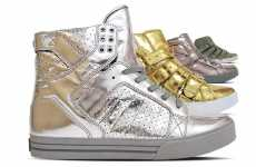 Patriotic High Tops - Supra '4th of July' Shoe Plays on the Futuristic Metallic Craze