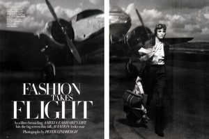 Peter Lindburg's Fashion Takes Flight in Harper's Bazaar