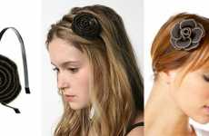 Zippered Hairbands - These Flowerly Fashions are all the Rage for Summer 2009