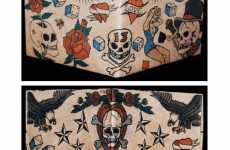 Inked Wallets - Mighty Wallets Features ClassicTattoo Designs