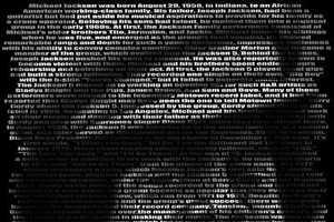 Artist Memorializes Michael Jackson Through Wordy Art