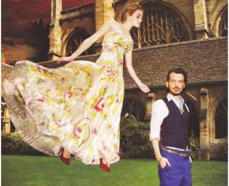 31 Floating Photoshoots - From Emma Watson 'Flying' in Bazaar to Super Model Floatography
