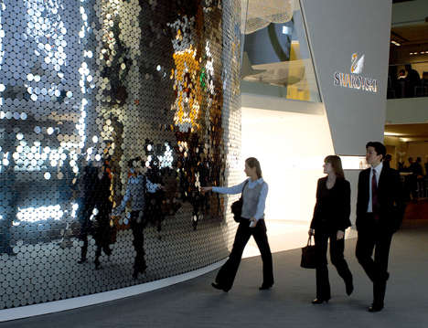Mirrored Lakes - Swarovski's Lake of Shimmer Reflects a Shine on Shoppers