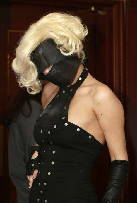 Face Mask Fashion - Lady GaGa Covers Her Face in Vilsbol de Arce
