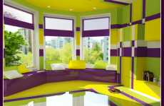 Psychedelic Bedrooms - Olga Tcherednikova's Interior Color Scheme is for Insomniacs