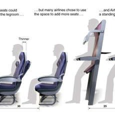 Stand-Up Flying - Airlines Offer Vertical Seating to Improve Passenger Capacity