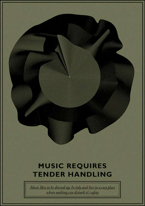 Malleable Music Posters - Stas Polyakov Makes Art Out of Unforgotten Vinyls