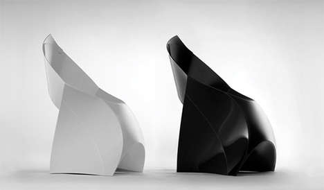 Origami Furniture - The Flux Chair Unfolds Into Innovative Seating