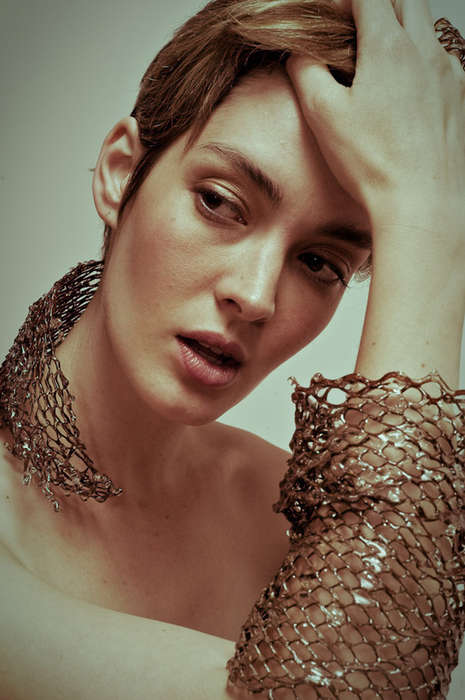 Reclaimed Mesh Jewelry - Ashley Winnington-Ball Makes Avant-Garde Accessories From Trash