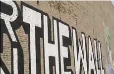Historical Anniversary Graffiti - Artist 'Above' Creates Street Display on the Berlin Wall