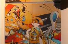 Robot War Graffiti - Mediah's 'Decimals Rebuilt' Show at Function 13 In Toronto