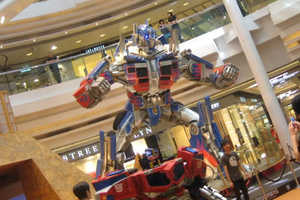 Optimus Prime Featured in Mall Display in Hong Kong