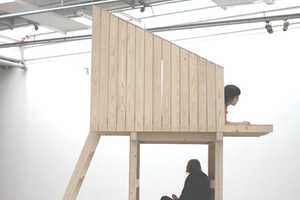 Wooden Structure Dances Between Furniture and Architecture