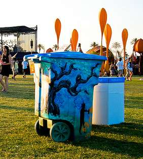 Artsy Rubbish Bins