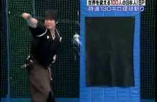 Swapping Sluggers for Swords - Talented Swordsman Splits Baseball In Half