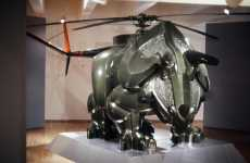 The Triceracopter Creates Dinosaur Helicopter Offspring Art