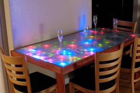 DIY Glow Dining - Evil Mad Scientist Shows You How to Brighten Up Your Table With LEDs