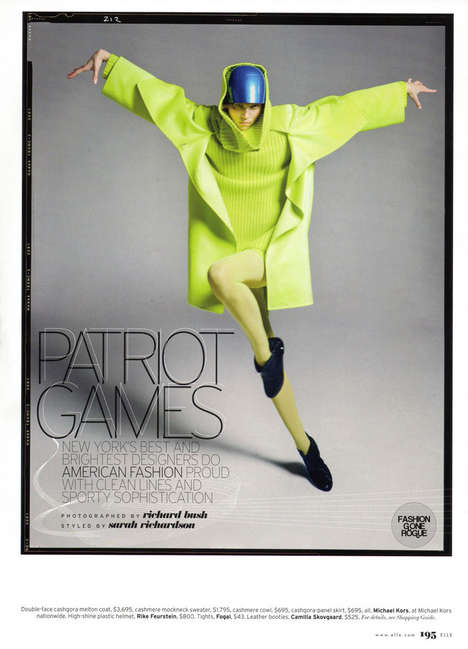 Patriotic Fashion Editorials - 'Patriot Games' in Elle August '09 Pays Homage to U.S. Designers