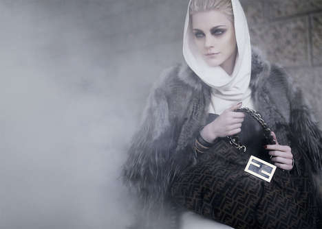 Apocalyptic Fashiontography - Karl Lagerfeld's Smoke-Filled Fendi Fall 2009 Campaign