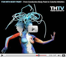 Fun With Body Paint - Fake Tattoos, Conductive Body Paint and Colorful Athletes