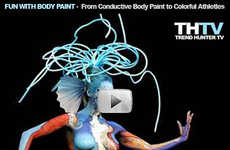 Fake Tattoos, Conductive Body Paint and Colorful Athletes