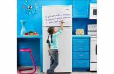 Artistic Kitchen Appliances - The Amana Jot Fridge Could be a Mural or a Memo