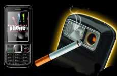Cigarette-Lighting Mobiles - The SB6309 Lighter Phone is Handy for Smokers