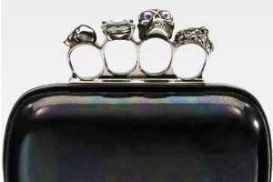 Silver Skull Brass Knuckle Bag by Alexander McQueen