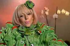 Kermit the Frog Couture - Lady GaGa Rocks Jean-Charles de Castelbajac Jacket to German Interview