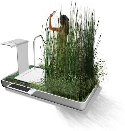 Ecosystem Showers - Jun Yasumoto's Phyto-Purification Bathroom Filters & Recycles Water
