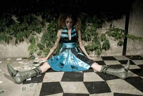 Edgy Fairytale Editorials - Marcela Abal Acosta's 'Alice' Takes a Twisted Turn Down the Rabbit Hole