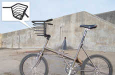 Easy Bike Baskets - The Goodmorning Tube Handlebar Carrier Lets You Tote in Style