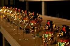 Sillyconductor Uses 60 Maneki Neko and Wine Glasses