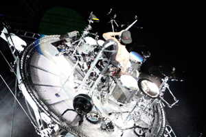 Travis Barker of Blink 182 Defies Gravity During Reunion Tour