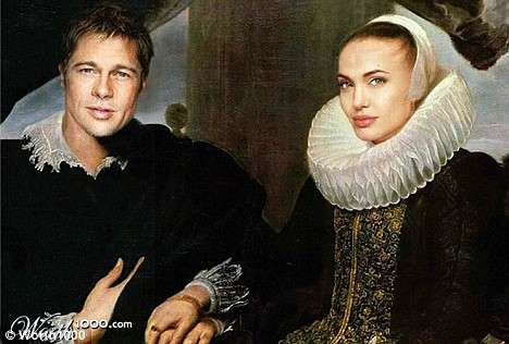 Faux Antique Celebs - Photoshopping French Classic Paintings Into Modern Celebrity Shots
