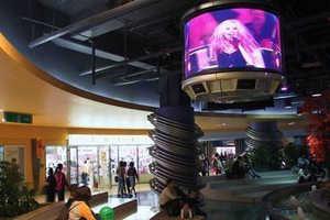 DynaScan Creates Impressive Cylinder TV Display Ouside Rockafeller Centre