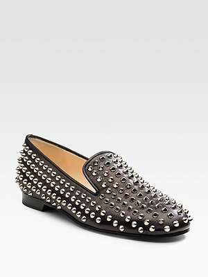 Studded Loafers - Christian Louboutin Rollerball Loafers Add a Goth Edge to Casual Attire