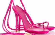 Tassel-Tastic Heels - Strappy Satin Rope Sandals by Alexander McQueen