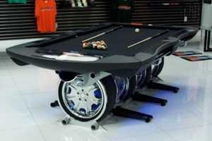The Autosport Pool Table Rocks a Unique Wheel Design