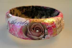 Cindyg's Bracelets Combines Fancy Script and Crystals