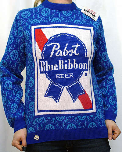 Beer Knit Sweaters - AJ Fosik Rescues Vintage Beer Label Knitted Sweaters