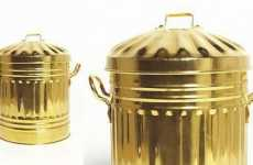 $15,000 Garbage Bins - Gold-Plated Trash Cans From Sylvie Fleury