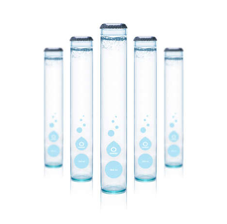 Test Tube Water Bottles - O Water Has a Unique Bottle Shape