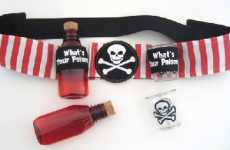 Alcohol Sashes - The Pirate Drinking Belt is Perfect for Nautical Themed Celebrations