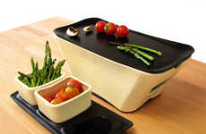 Haute Hot Plates - Enjoy Cooking and Conversation With the Dante Tabletop Cooking Grill
