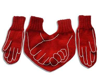 Lovers' Gloves - Hand Warmers for Couples