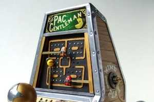 Artist Turns the Classic Arcade Game into a Working Winding Toy