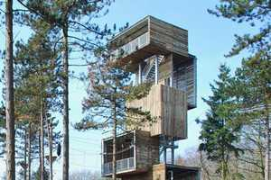 Ateliereen Viewing Tower Lets You Scale Towards the Summit
