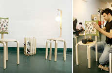 IKEA Hacking Collectives - Surtido de Mutacione Takes Boxed IKEA Parts & Makes New Creations